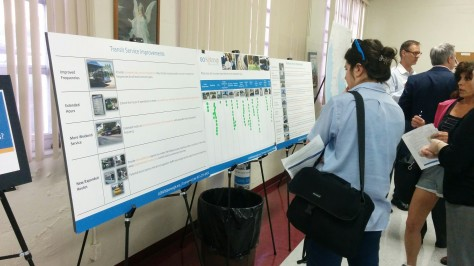This board allowed voters to place a sticker dot underneath each category (4 categories maximum) that they felt the biggest transportation concerns are to them. Credit: HARTride 2012