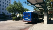 $1507 waits for its Route 18 run at the Marion Transit Center. Photo Credit: HARTride 2012. March, 2015.