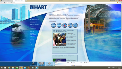The current HART website, launched December 31, 2008.