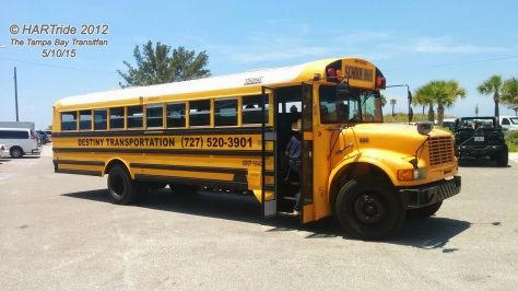 ALWAYS BE AWARE OF THE BIG YELLOW SCHOOL BUS! Photo Credit: HARTride 2012.