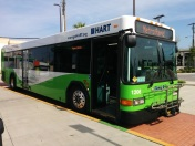 #1206 at the Marion Transit Center, ready for departure. Photo Credit: HARTride 2012.