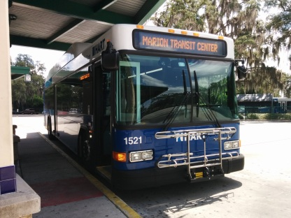 #1521 at the UATC, preparing to travel on Route 6. Photo Credit: HARTride 2012. July, 2015.