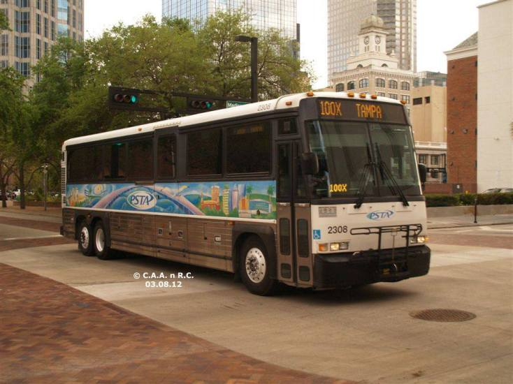 #2308 on the Marion St Transitway, Route 100X. Photo Credit: Carlos A.