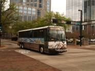 #2307 on the Marion St Transitway, Route 100X. Photo Credit: Carlos A.