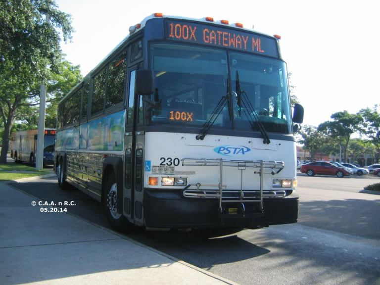 #2301 at Britton Plaza on Route 100X, with a HART Route 36 bus behind it. Photo Credit: Carlos A.