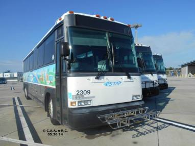#2309 sits beside two of its sisters at the PSTA Facility. Photo Credit: Carlos A.