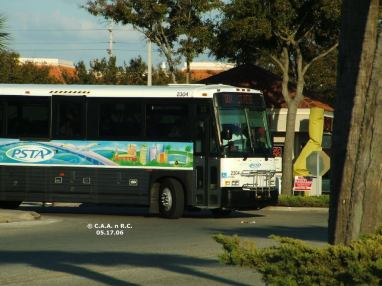 #2304 on Route 100X, turning the corner at Britton Plaza. Photo Credit: Carlos A.