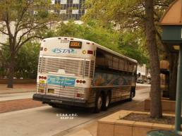 #2307, Route 100X, travelling down the Marion St Transitway. Photo Credit: Carlos A.