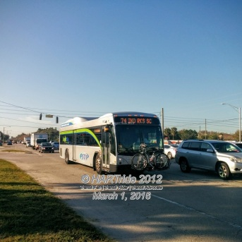 #15102 on Route 74. Due to construction on Gandy Blvd, the 74 was detoured for a time and now follows a different route along Gandy.