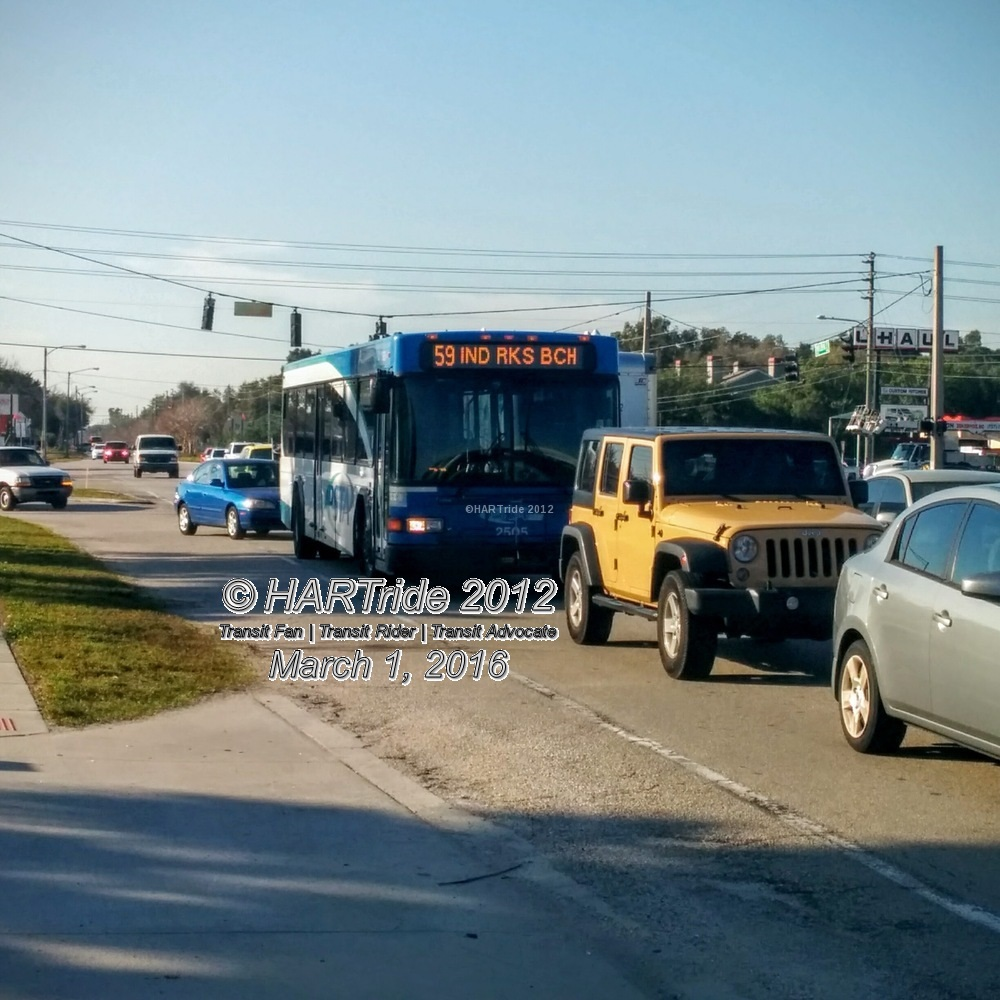 #2505 was a regular fixture on Route 59 prior to October, 2016. While it may still be assigned to the route nowadays, it normally springs up on Route 4.