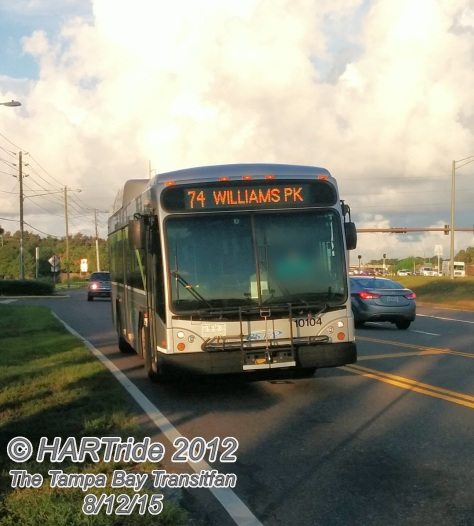#10104 arrives at my stop!