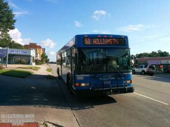 #2112 on Route 59 heading towards Williams Park.