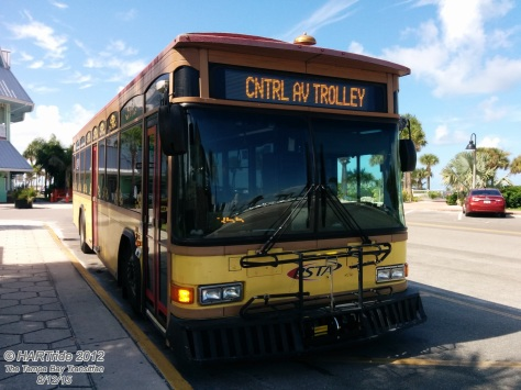 #922 (a Gillig Low Floor Replica Trolley) on the Central Ave Trolley Route.