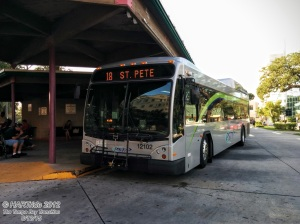 Route 18 southbound (#12102) at the Park St Terminal in Clearwater.
