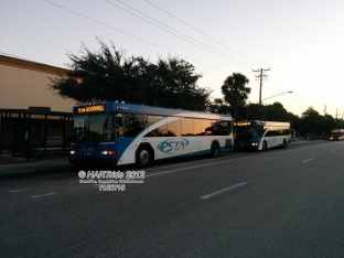 Both buses at Gateway Mall.