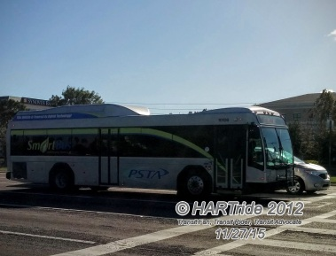 #10106 prepares to turn onto 28th St N from Roosevelt Blvd near Carillon.