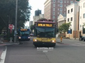 #920 on the CAT, making a turn onto 2nd Ave N.