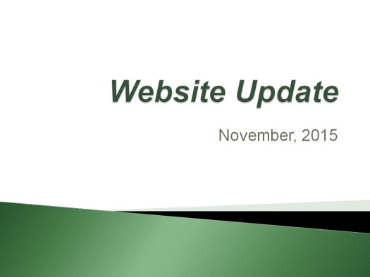 Website Update - 2015-11-02