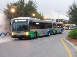 Both buses on morning lineup.