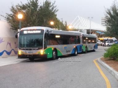 Both buses on morning lineup.