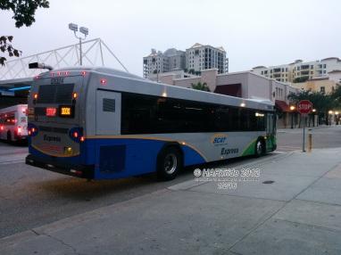#1202X prepares to make its turn onto Lemon Ave.