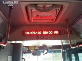 "The Luminator ""Next Stop"" LED display."