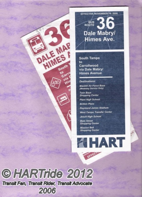 Route 36 brochures from 2005 and 2006.