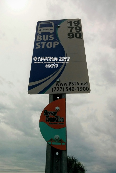 The Skyway ConneXion route will only load and unload customers at designated bus stops with the orange and blue MCAT decal.