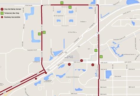 Route 74 Detour Map - Revised 03-13-2016