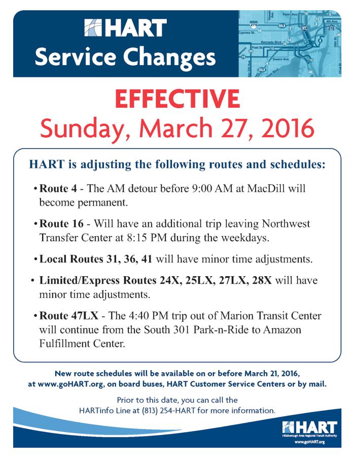 Service change