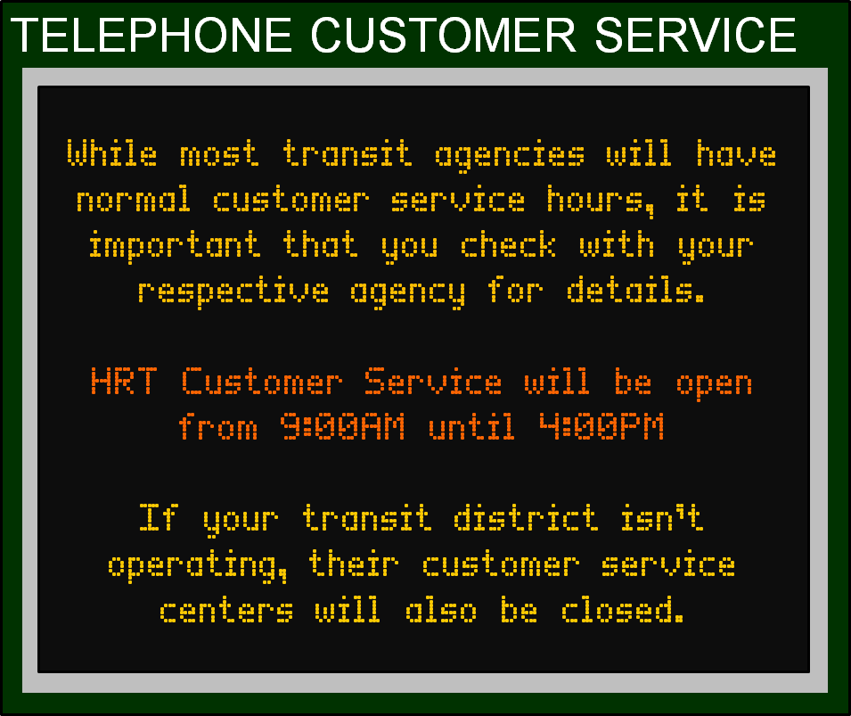 July 4 Holiday Transit Schedules Banner 9 - Cust Serv 2