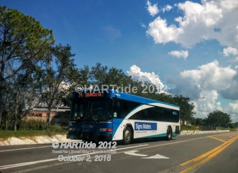 #2709 travels down 94th Ave N on Route 74.