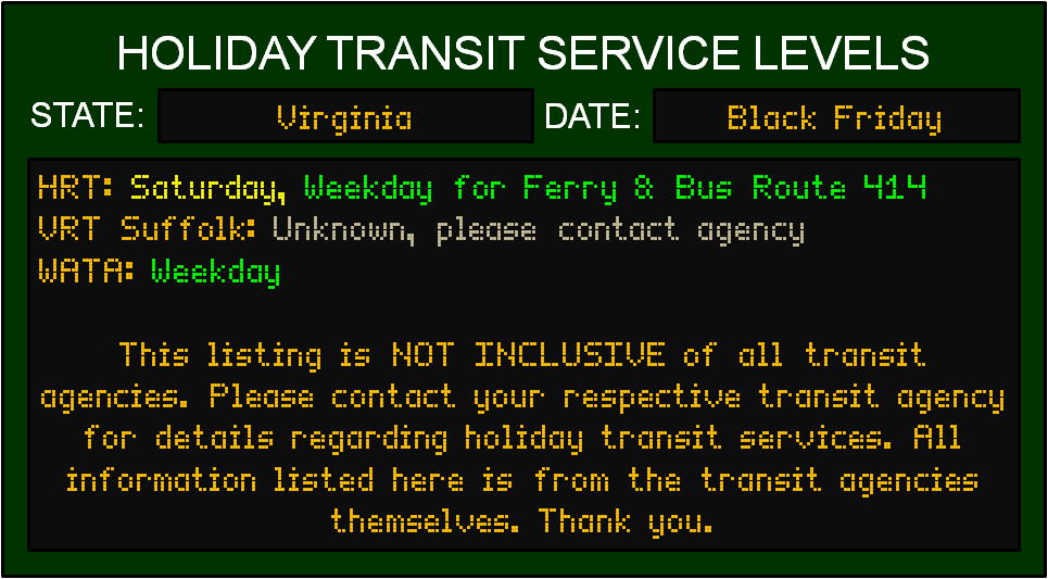 black-friday-va-transit-service-levels