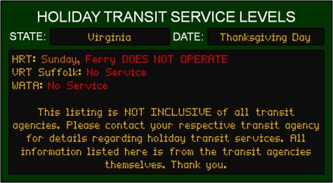 thanksgiving-va-transit-service-levels