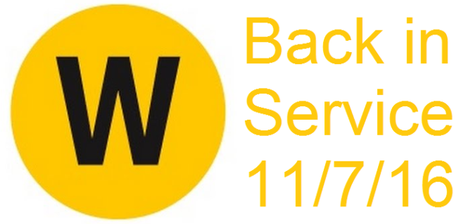 NYC Subway W-Train makes a comeback on 11/7/16
