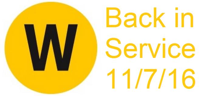 NYC Subway W-Train makes a comeback on 11/7/16