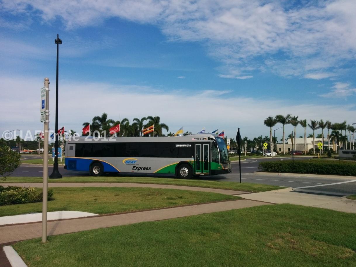 Sarasota County Area Transit sells express bus fleet to Hillsborough Area RegionalTransit