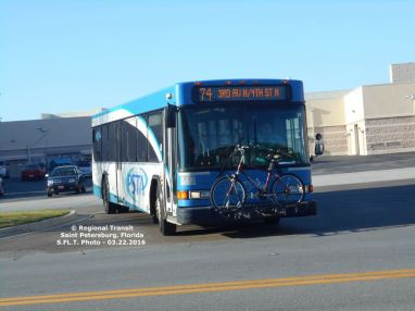 #2506 leaving Pinellas Park Transit Center. Credit: Carlos A.